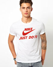 Men Printed tshirt /t shirt - Export Surplus 100% polyester Red Justdoit