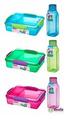 Sistema Snack Attack Duo 975ml and Square Bottle 475ml 2 Pack Lunch BPA Free