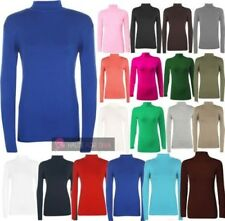 femme 'S NEUF manches longues uni Tortue col polo pull grande taille