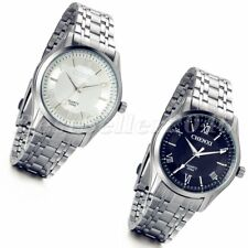 Fashion Mens Stainless Steel Sport Quartz Analog Wrist Watch Roman Luminous Dial