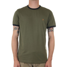 Farah Groves Ringer Tee - Military Green