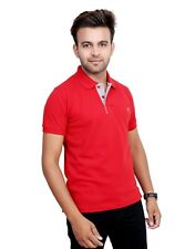 Neva Men's Solid Red Cotton T-Shirt (TMF1000RED)