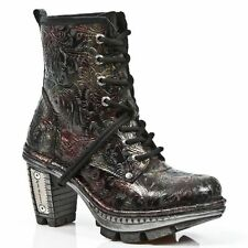 NEW ROCK NEOTR008-S13 Vintage Flower Red Gothic Rock Punk Ladies Boots