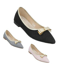 TOP Damen Ballerinas Schuhe Flats Slipper Pumps 7656 Loafers Slip on 36 - 41