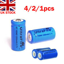 4/2/1x 3.7V Li-ion Rechargeable 16340 Battery 1200mAh for e-cig Flashlight Torch
