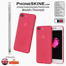 PhoneSKINe RED Silicone Apple iPhone case iphone 7, 7 plus, 6s, iphone 6s plus