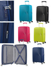 Maleta Samsonite American Tourister Soundbox Lime y Pink 75 - 67 - 55