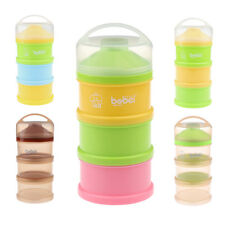 Portable Baby Milk Power Storage Box 3 Section Infant Kids Food Container