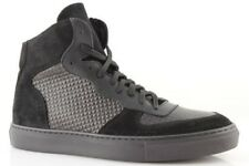 Baskets homme hautes noir cuir made in italy chaussures à lacets 39 40 41 42 43