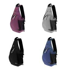 Chest Sling Bag Book Bag Travel Crossbody Backpack with USB Charging Port