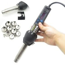 Adjustable Electronic Heat Hot Air Gun Desoldering Soldering Station + 9 Nozzle