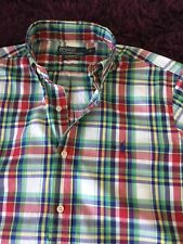 Stunning 100% Genuine Ralph Lauren Custom Fit Short Sleeve Check Shirt In Medium