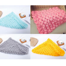 50*50cm Knitted Newborn Baby Photography Photo Props Stretch Baby Wraps Blanket