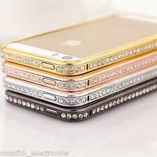 New BLING Diamond Aluminium Metal Bumper Frame Case for iPhone 5 5G 5S