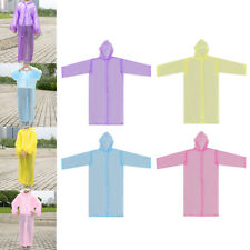 Portable Non-disposable Waterproof Hoodied Raincoat Poncho for 7-12T Kids