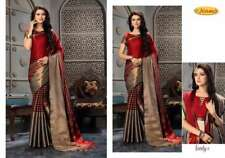 Traditional Designer Indian  Pure Cotton Silk Saree Wedding Sari