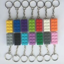 LEGO BRICK KEYRINGS - PARTY BAG BIRTHDAY FAVOUR STOCKING FILLERS - CHOOSE COLOUR