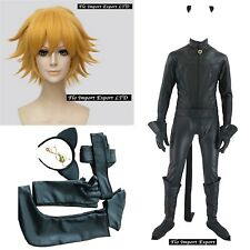 Inspired Miraculous Chat Noir Costume Carnevale Ladybug Cosplay Adulto CHAN08