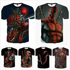 homme T SHIRT DEADPOOL BD Super-Héros COOL 3D imprimé t-shirts Marvel Avenger