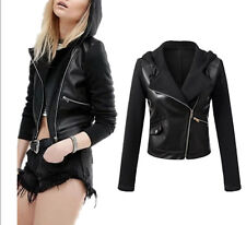 Giacca Corta Giubbotto Donna Similpelle PU Leather Fleece Woman Jacket JAC0023 P