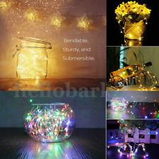 UK 20/40/60 LED Battery Copper Wire String Fairy Lights Wedding Party Xmas Decor