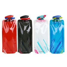 700ml Foldable Water Bladder Bag Bottle Outdoor Camping Hiking Cycling Climbing~