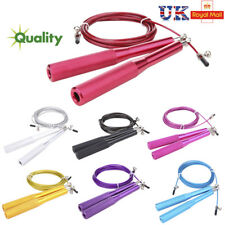 Fitness Adjustable Speed Skipping Jumping Rope Boxing Gym CrossFit Steel Cable d