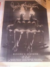 < JANES ADDICTION - NOTHINGS SHOCKING - copy of magazine advert / small poster