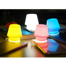 Portable New Silicone Mobile Phone Lamp Stand Holder Cellphone Night Light