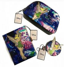 DISNEY TINKERBELL Glitter Coin Make up Clutch Hand Bag Purse With Zip Primark