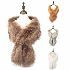 Ladies Women Winter Thick Scarf Faux Fur Neck Warmer Wrap Extra Large Stole Coll