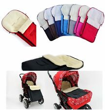 Universal Sheep Wool Footmuff Cosy Toes Fit Buggy Pushchair Stroller Pram