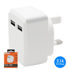 2.1A Fast Charge USB Mains Charger Adapter for Nokia 105 (2015)