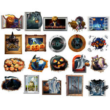 Vivid 3D Happy Halloween Fun Wall Sticker Home Window Door Room Decoration