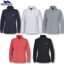 TRESPASS WOMENS 1/4 ZIP FLEECE CAMPING HIKING WINTER FLEECE JACKET LADIES TOP