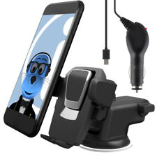 Auto Grip Suction Car Holder and Charger for Alcatel One Touch 606 Chat