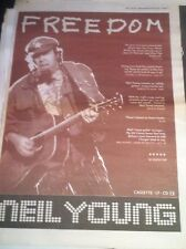 < NEIL YOUNG - FREEDOM - original magazine advert / small poster