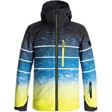Quiksilver Mission Engineered Boys Ski Jacket, Sulphur Blue Lights