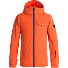Quiksilver Mission Solid Boys Ski Jacket, Mandarin Red