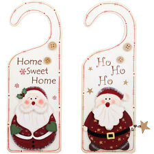 "Santa Door Hanger, christmas door sign, christmas decoration, ""HO HO HO"""