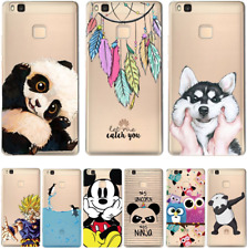 HUAWEI P8 P9 P10 Lite Soft Silicon Cartoon Cover Case Minnie Mouse Panda Dog