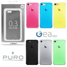 PURO Custodia Ultra Slim 0.3 mm Per iPhone 7 8 NUDE COVER Trasparente Sottile