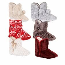 Luxury Ladies Cosy Various Fur Boot Slippers with Multiple Styles of Fur Trim