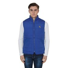 BRANDED SURPLUS HIGH QUALITY REASONABLE PRICE SLEEVELESS BLUE QUILTED JACKET