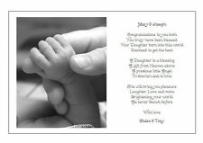 Personalised Poem Gift for the birth of a New BABY BOY GIRL or TWINS