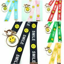 SPIRIUS smiley Lanyard neck + wrist strap for id badge holder with metal clip