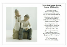 Personalised Wedding Day Poem Gift - TO MY BROTHER on your Marriage/Wedding