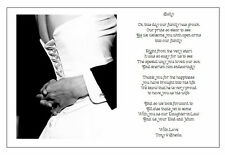 Personalised Wedding Day Poem Gift From Grooms Pas To Daughter In Law