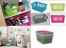 Set of 10 Handy Storage Basket Home Kitchen Office Pharmacy Use Plastic Basket