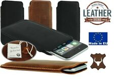 Slim Tasca Custodia Cover realizzata in vera pelle a manicotto per iphone apple